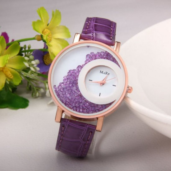 Purple Color Double Dial Analogue Watch W-60PR |image