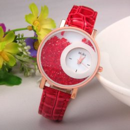 Red Color Double Dial Analogue Watch W-60RD