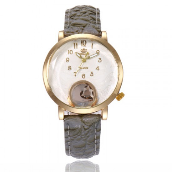 Ladies Fashion Grey Leather Strap Wrist Watch W-63GR |image