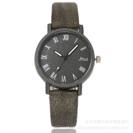 Roman Scales Simple Green Couple Wrist Watch W-64GN |image