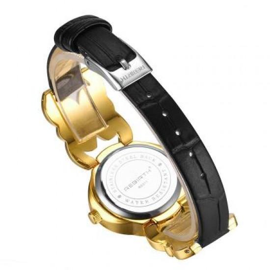 Rebirth Flower Diamond Design Gold Wrist Watch W-77G |image