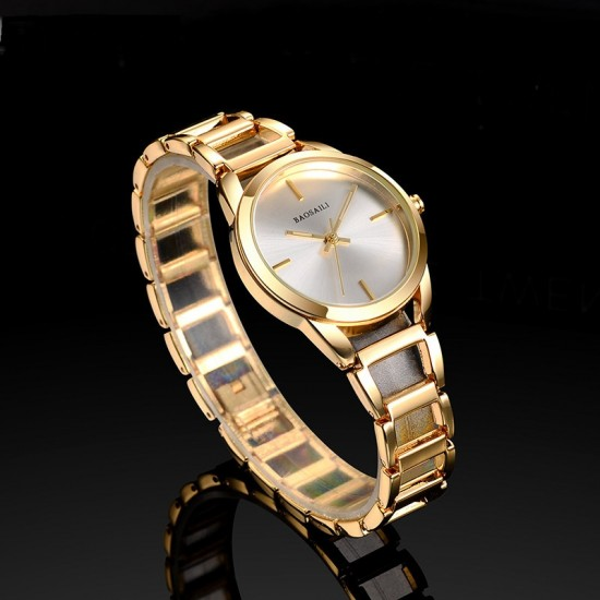 Baosaili Luxury Design Gold Steel Strap Bracelet Watch W-81G |image