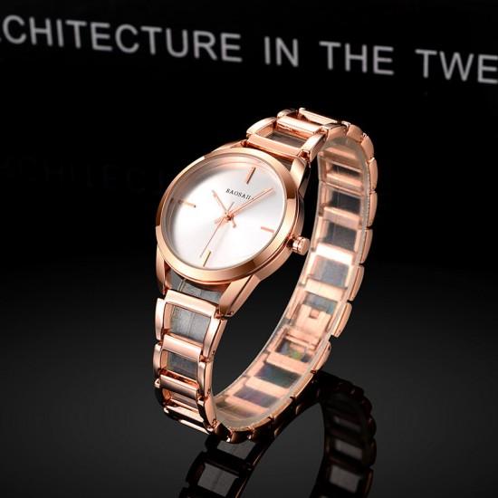 Baosaili Luxury Design Rose Gold Steel Strap Bracelet Watch W-81RG |image