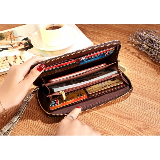 Designer Printed Contrast Women Clutch Wallet WB-94BR |image