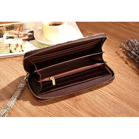 Designer Printed Contrast Women Clutch Wallet WB-94GN  image