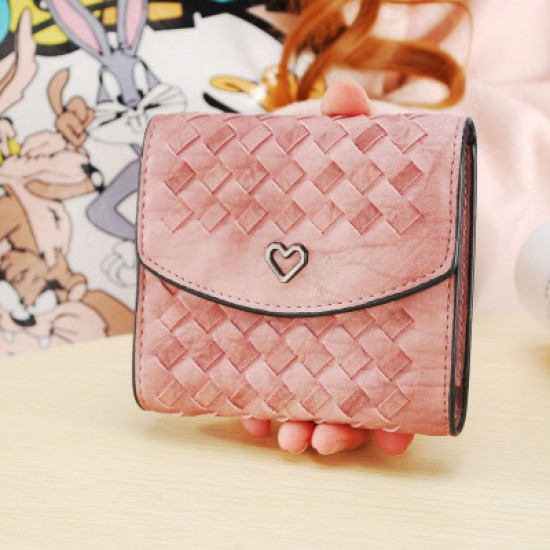 Heart with Patchwork Pink Mini Handy Wallet WB-99PK |image