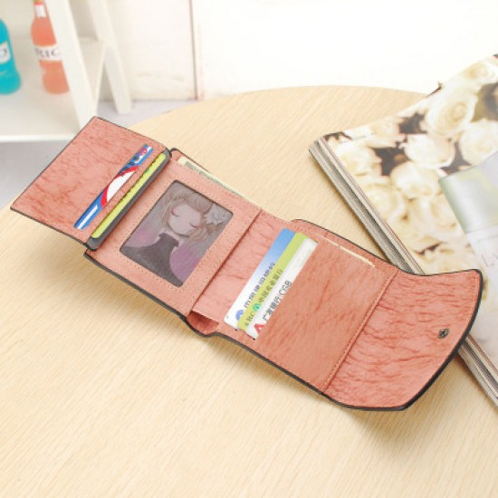 Heart with Patchwork Brown Mini Handy Wallet WB-99BR |image