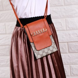 Designer Pattern Orange Flap Mini Shoulder Bag WB-100OR
