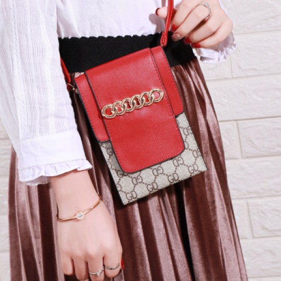 Designer Pattern Red Flap Mini Shoulder Bag WB-100RD |image