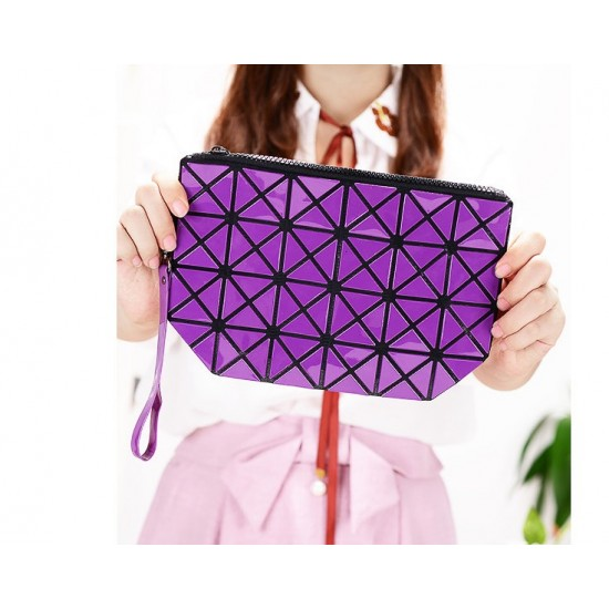 Vertical Chain Purple Patchwork Shoulder Bag WB-103PR |image
