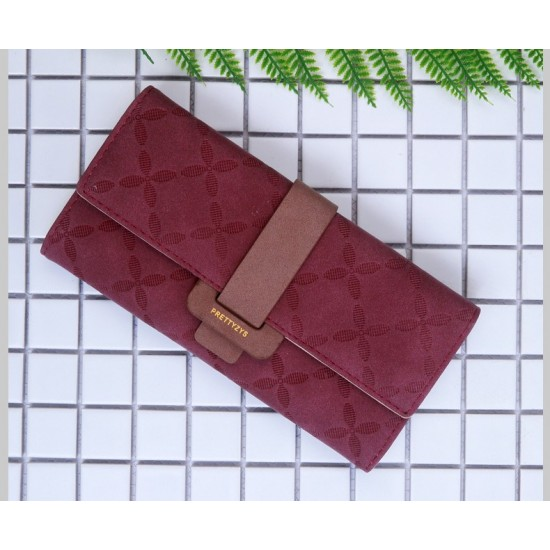 Quality Floral Engraved Red Buckle Wallet WB-119RD  image