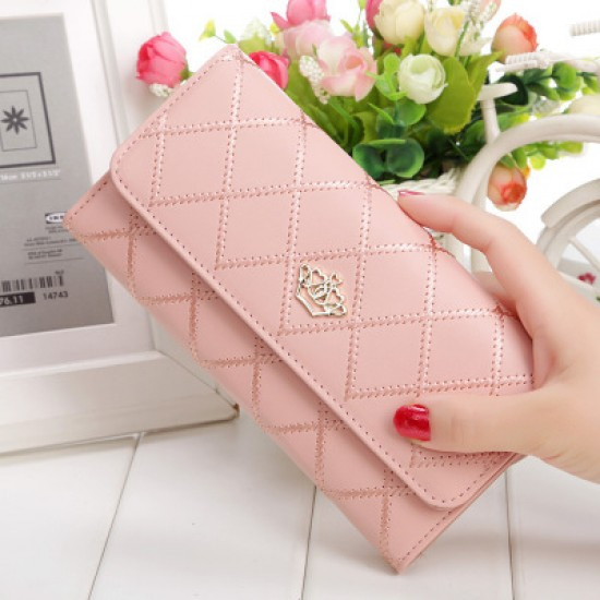 Crown Patched Stitched Cream Women Wallets WB-121CR |image