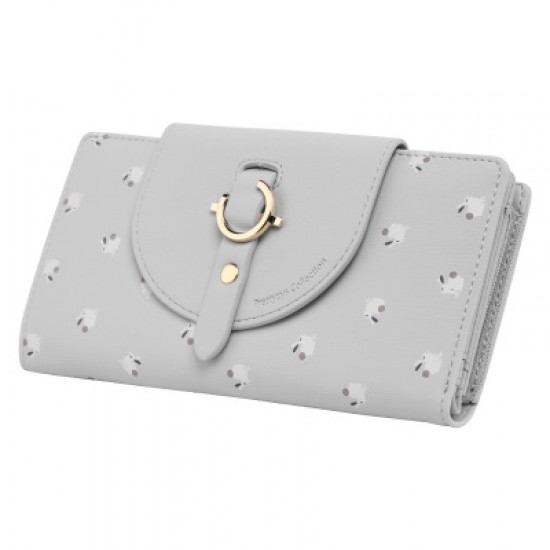 Cute Rabbit Multi Pockets Grey Wallet WB-124GR |image