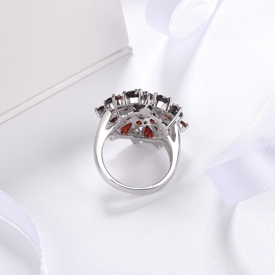 Pomegranate Shiny Red Bridal Cubic Zircon Ring R-15 |image