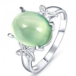 Shiny Light Green Rhinestone Crystal Butterfly Rings R-14