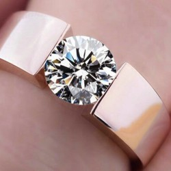 Top Design Cubic Zirconia Rose Gold Plated Rings R-30RG