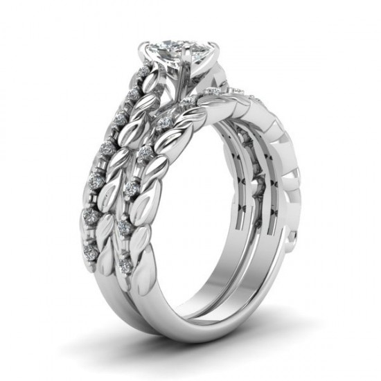 2 in 1 Silver Plated Flash Drill Zircon Rings R-36 |image