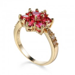 Creative Fashion Pink Color New Ladies Flower Pattern Rings R-58PK