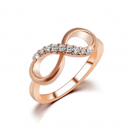 Luxury infinity Diamond Zirconium Rings R-47