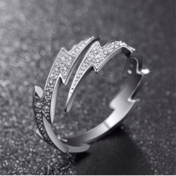Sterling Silver Lightning New Fashion Rings R-52S