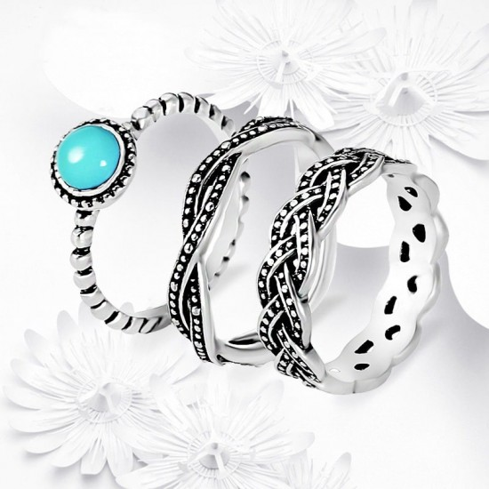 3 Pieces Set Couple Cross Border Rings R-59 |image