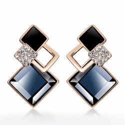Black Galaxy Luxurious Cubic Zirconia Earrings E-32BK