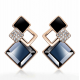 Black Galaxy Luxurious Cubic Zirconia Earrings E-32BK |image