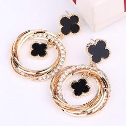 New Fashion Round Circle Clover Earrings E-57