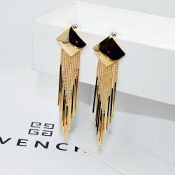 Long Drop Gold Square Tassel Earrings E-62G