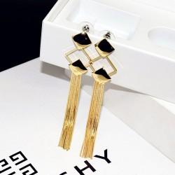Elegant Tassel Fashion Long Gold Chain Stud Earrings E-70G