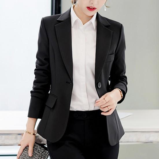 Formal Wear Ladies Slim Black Suit Jacket WJ-46BK |image