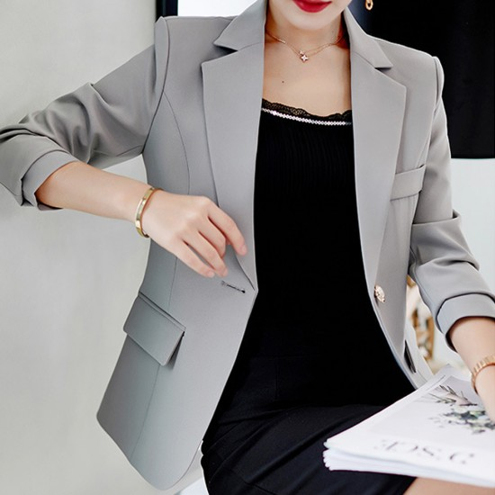 Formal Wear Ladies Slim Grey Suit Jacket WJ-46GR |image