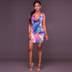 MultiColor Ultra Bold Sexy Dress WC-286