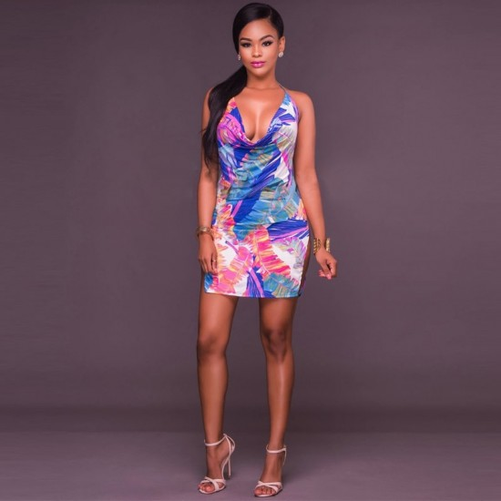 MultiColor Ultra Bold Sexy Dress WC-286 |image