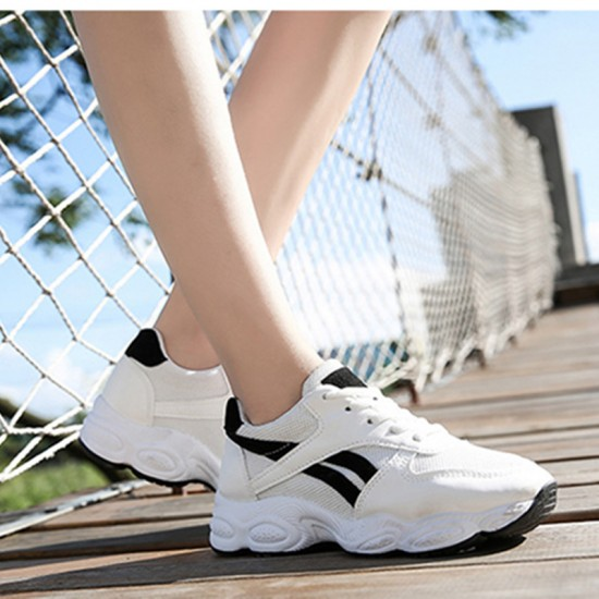 Casual Breathable White Black Running Shoes S-139BK |image