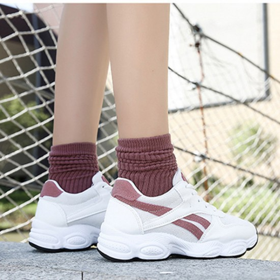 Casual Breathable White Pink Running Shoes S-139PK |image