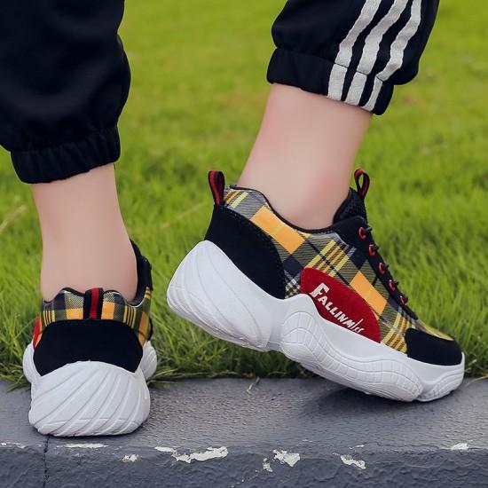 Casual Laces Up Black Sport Shoes S-161  image