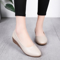 Soft Brown Leather Flat Shoes S-140BR