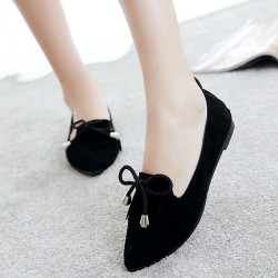 Assorted Tassel Black Flat Shoes S-156BK