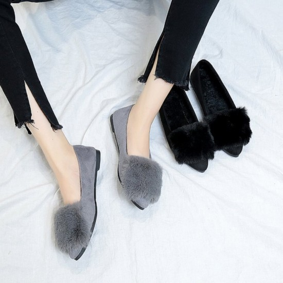 Bow Crystal Party Wear Grey Flat Shoes S-155GR |image