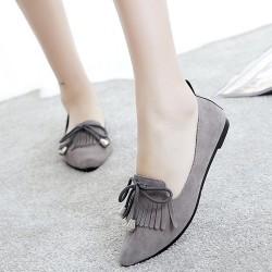 Assorted Tassel Grey Flat Shoes S-156GR
