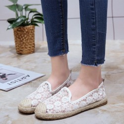 Breathable Slip On Floral lace Shoes S-171W