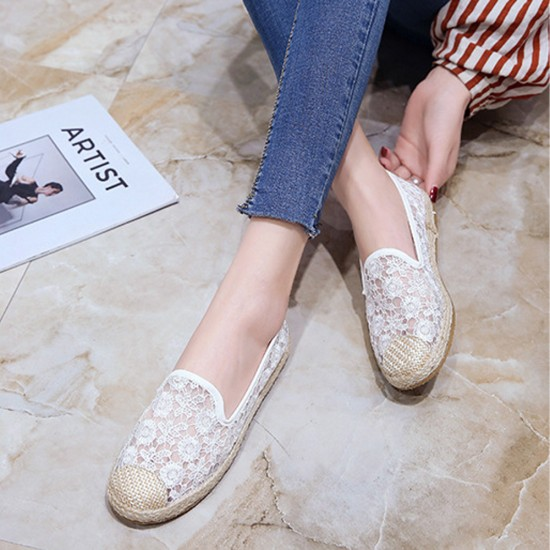 Breathable Slip On Floral lace Shoes S-171W |image