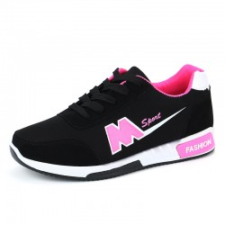 Casual Breathable Ladies Black Sport Shoes S-151