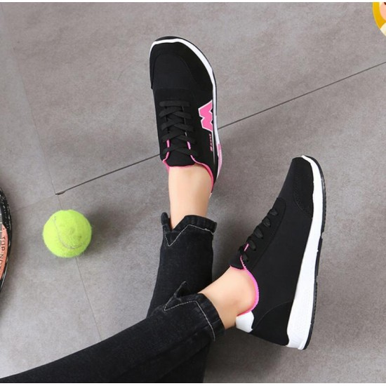 Casual Breathable Ladies Black Sport Shoes S-151 |image