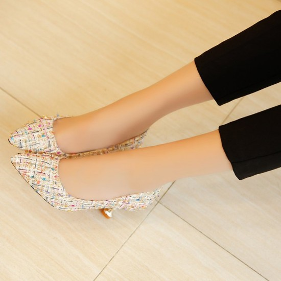 Low Heel Multicolor Style Sandals S-145CR |image