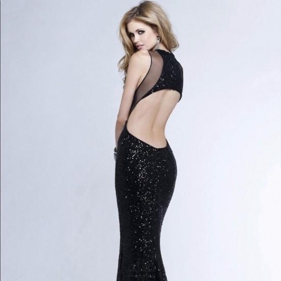 77dedc3e1a Buy Beautiful Black Sequin Mermaid Style Cocktail Dress WC-313BK ...