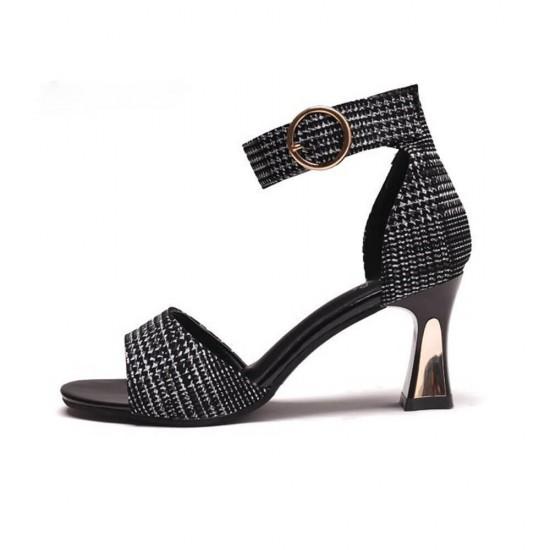 Roman Fashion Belt Buckle High Heels Sandal S-177 |image