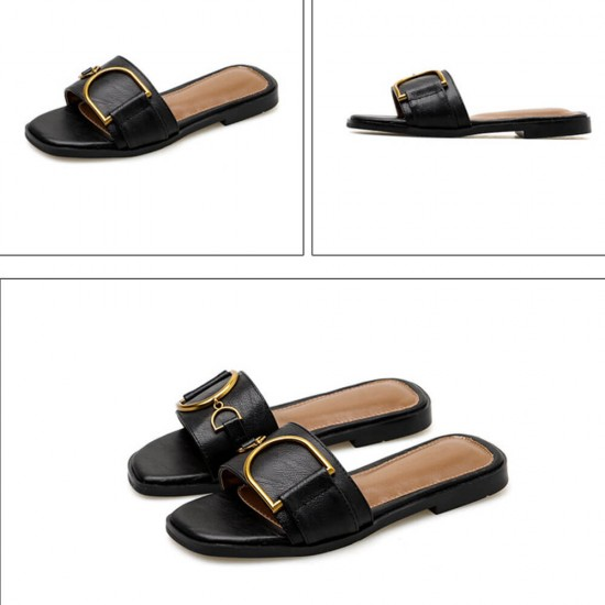 Summer Casual Fashion Light Flip flop Flat Slippers S-182BK |image
