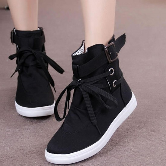 Buy Canvas Breathable Flat Casual Boots